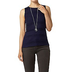 Dorothy Perkins - Navy frill lace shell top