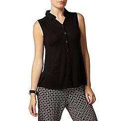 Dorothy Perkins - Black plain sleeveless shirt