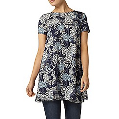 Dorothy Perkins - Navy floral zip back tunic