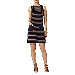 Dorothy Perkins - Tan stripe pocket shift dress