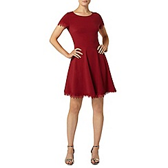 Dorothy Perkins - Red lace trim dress