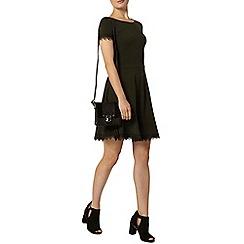 Dorothy Perkins - Green lace trim dress