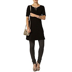 Dorothy Perkins - Black lace up dress