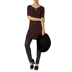 Dorothy Perkins - Nutmeg lace up dress