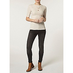 Dorothy Perkins - Oat rib high neck t-shirt