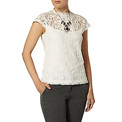Dorothy Perkins - Floral lace victoriana top