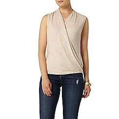 Dorothy Perkins - Oat wrap front top