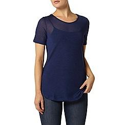 Dorothy Perkins - Blue slinky side split t-shirt