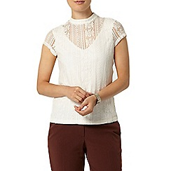 Dorothy Perkins - Stripe lace victoriana top