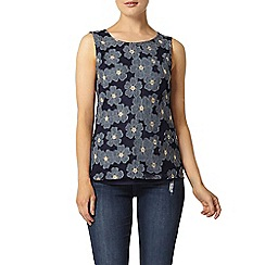 Dorothy Perkins - Denim blue floral shell top
