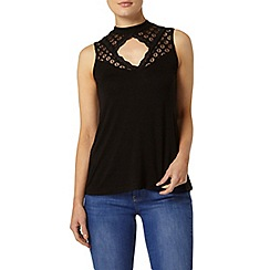 Dorothy Perkins - Black lace yoke victoriana top