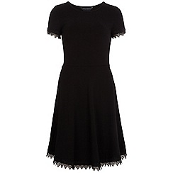 Dorothy Perkins - Tall black lace trim dress