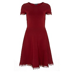 Dorothy Perkins - Tall crimson lace trim dress