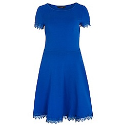 Dorothy Perkins - Tall blue lace trim dress