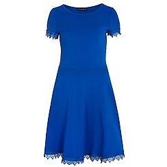 Dorothy Perkins - Tall blue lace trim dress