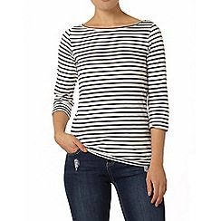Dorothy Perkins - Stripe 3/4 sleeve top