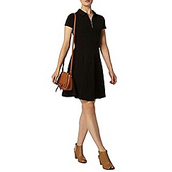 Dorothy Perkins - Black zip fit and flare dress