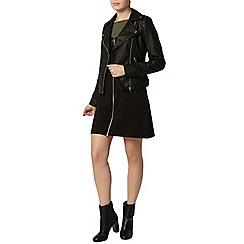 Dorothy Perkins - Khaki and black 2 in 1 shift dress