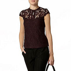 Dorothy Perkins - Raisin lace front victoriana top