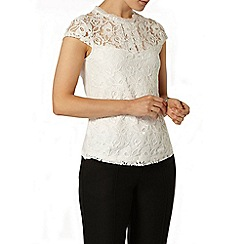 Dorothy Perkins - Ivory lace front victoriana top