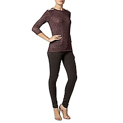 Dorothy Perkins - Raisin embellished jersey knit