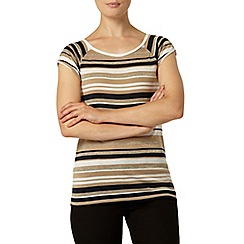 Dorothy Perkins - Gold metallic stripe t-shirt