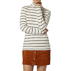 Dorothy Perkins - Metallic stripe roll neck top