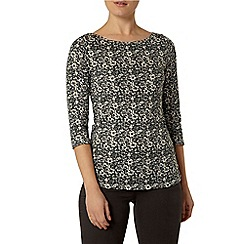 Dorothy Perkins - Green ditsy floral top