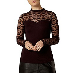 Dorothy Perkins - Raisin embroidered victoriana top