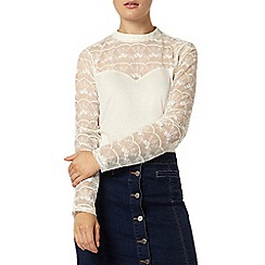 Dorothy Perkins - Ivory embroidered victoriana top