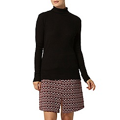 Dorothy Perkins - Black rib roll neck top