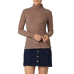 Dorothy Perkins - Coffee marl roll neck top