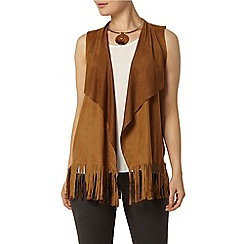 Dorothy Perkins - Toffee suedette waistcoat