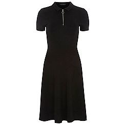 Dorothy Perkins - Tall black zip front dress