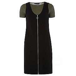 Dorothy Perkins - Tall khaki and black shift dress