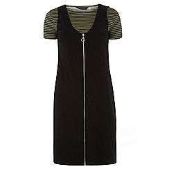 Dorothy Perkins - Tall khaki and black shift dress