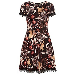 Dorothy Perkins - Tall floral lace trim dress