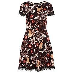 Dorothy Perkins - Tall floral lace trim dress