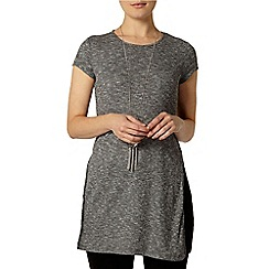 Dorothy Perkins - Grey split hem rib tunic