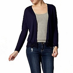 Dorothy Perkins - Navy lace trim cardigan