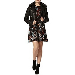 Dorothy Perkins - Black floral pompom trim dress