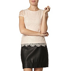 Dorothy Perkins - Nude eyelash sequin t-shirt
