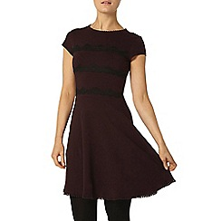 Dorothy Perkins - Raisin stripe lace dress