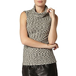 Dorothy Perkins - Sleeveless chevron roll neck top