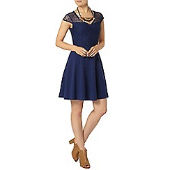 Dorothy Perkins - Sapphire v neck lace dress