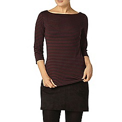 Dorothy Perkins - Raisin and black stripe top