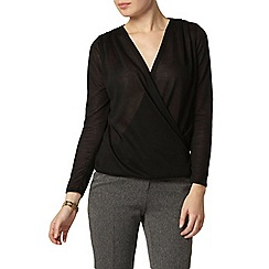 Dorothy Perkins - Black wrap jersey knit