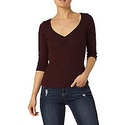 Dorothy Perkins - Raisin rib sweetheart top