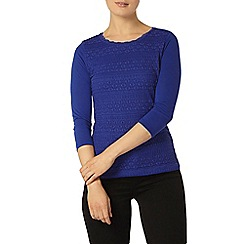 Dorothy Perkins - Blue frill lace front top