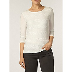 Dorothy Perkins - Ivory frill lace front top